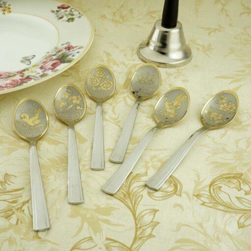 Комплект Gold из 6-ти чайных ложек
