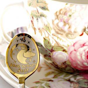 Чайная ложка с гравировкой «Козерог»