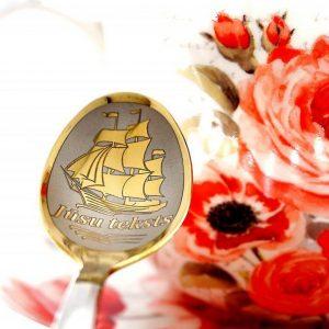 Чайная ложка с гравировкой «Кораблик»