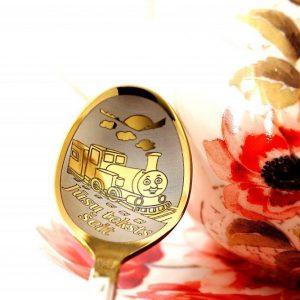 Чайная ложка с гравировкой «Паровозик»