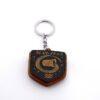 """14 6 100x100 - Koka atslēgu piekariņš ar gravējumu """"Ūdensvīrs"""""""