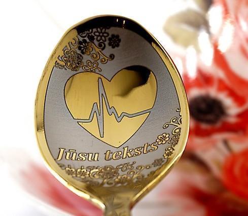 Чайная ложка с гравировкой «Сердечко»