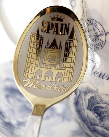 """Чайная ложка с гравировкой """"Мадрид №2"""""""
