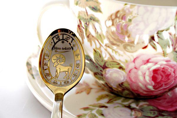 Чайная ложка с гравировкой «Овен»