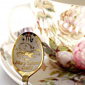 Чайная ложка с гравировкой «Скорпион»