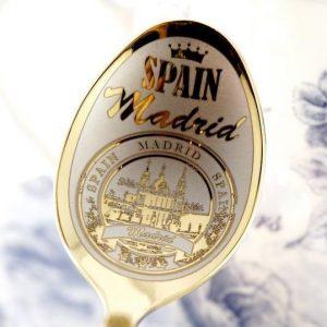 """Чайная ложка с гравировкой """"Мадрид"""""""