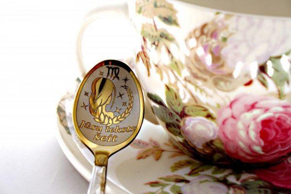 Чайная ложка с гравировкой «Дева»