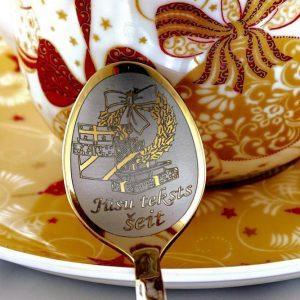 Чайная ложка с гравировкой «Подарки»