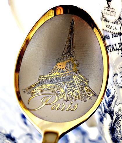"""Чайная ложка с гравировкой """"Париж"""""""