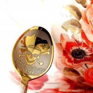 Чайная ложка с гравировкой «Пират»