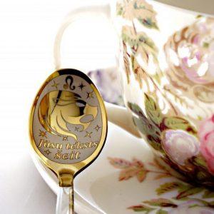 Чайная ложка с гравировкой «Лев»