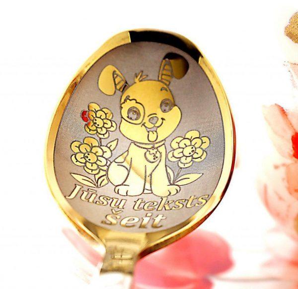 Чайная ложка с гравировкой «Собачка»