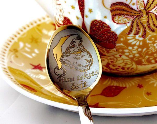 Чайная ложка с гравировкой «Дед Мороз»