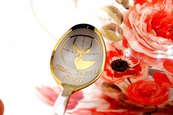 Чайная ложка с гравировкой «Олень»