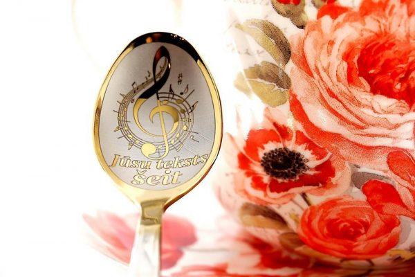 Чайная ложка с гравировкой «Нота / Певец»