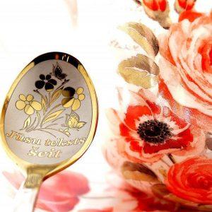 Чайная ложка с гравировкой «Цветочки»