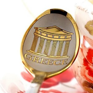 """Чайная ложка с гравировкой """"Греция"""""""