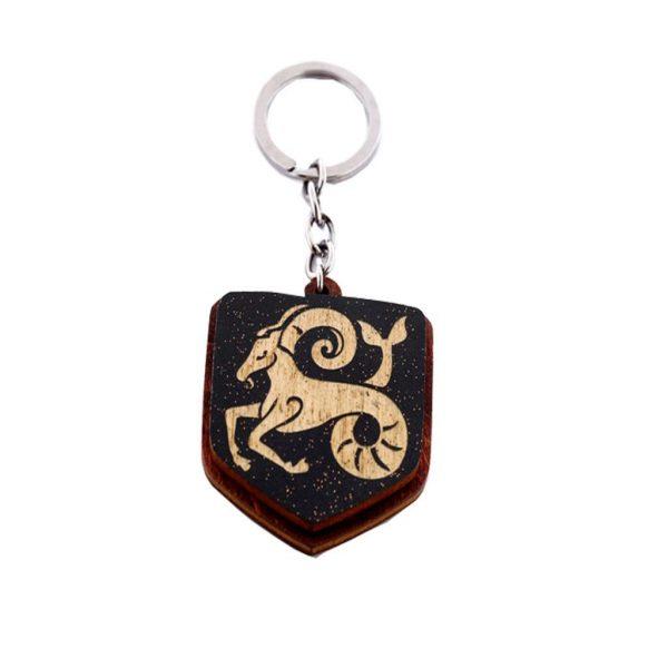"""Koka atslēgu piekariņš ar gravējumu """"Mežāzis"""""""