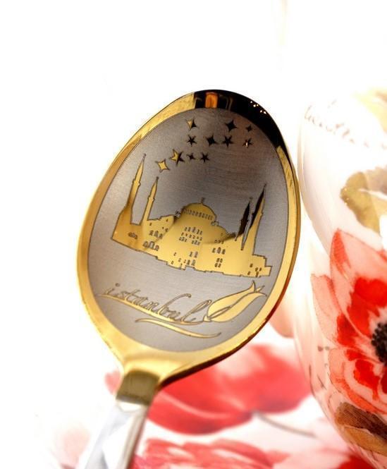 """Чайная ложка с гравировкой """"Истанбул"""""""