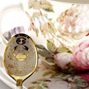Чайная ложка с гравировкой «Рак»