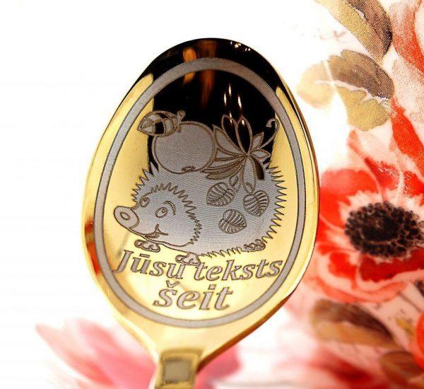 Чайная ложка с гравировкой «Ёжик»