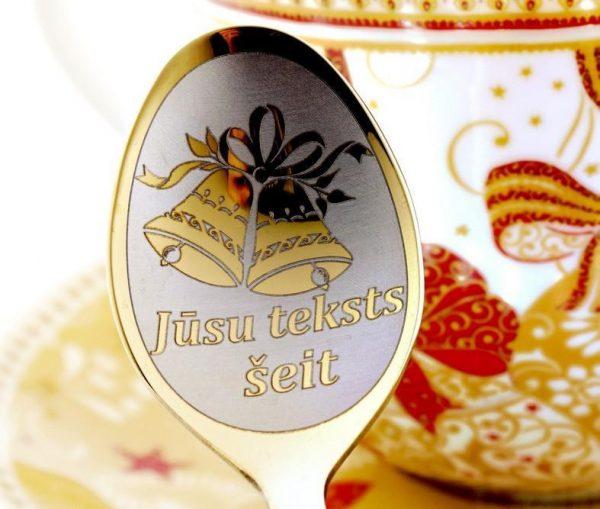 Чайная ложка с гравировкой «Колокольчики»