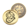 personalizēta monēta ar peles gravējumu vienā pusē un personalizētu pusi otrā