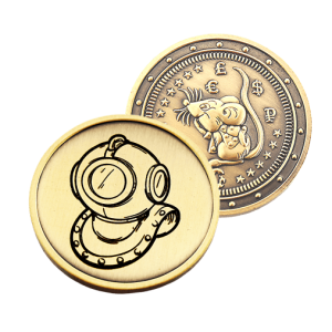 Подарочная монета Крыса (символ 2020) – Водолаз