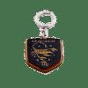 Деревянный брелок с гравировкой «Скорпион»