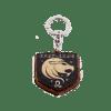 """Koka atslēgu piekariņš ar gravējumu """"Lauva"""""""