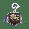 Деревянный брелок с гравировкой «Лев»