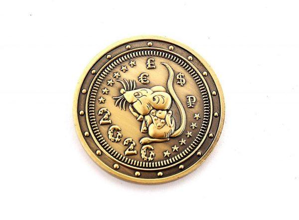 Подарочная монета 2020 (Крыса) Ваш текст на монетке