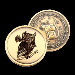 Подарочная монета Крыса (символ 2020) –  Сова