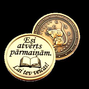 monēta ar gravējumu
