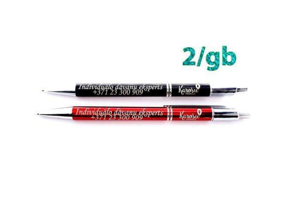 melna un sarkana pilspalva ar iespēju personalizēt