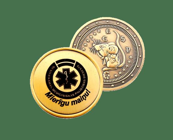 Dāvanu monēta 2020 (Žurka) Mierīgu maiņu!