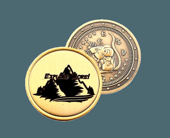 Dāvanu monēta 2020 (Žurka) Vulkāns