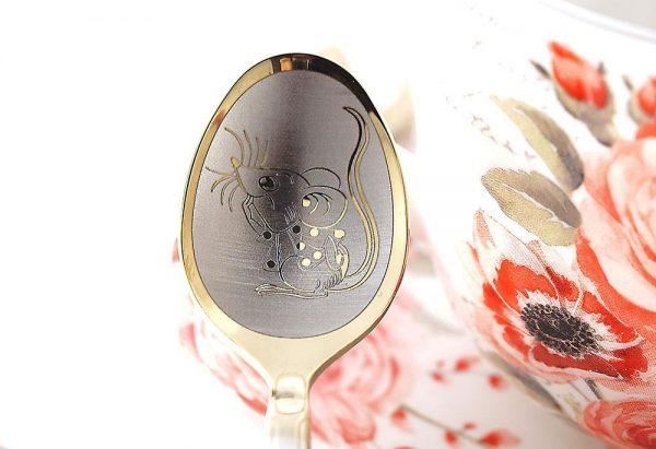 Чайная ложка с гравировкой «Мышка»