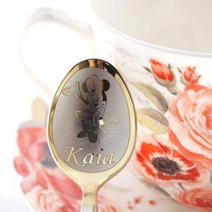Чайная ложка с гравировкой «Микки Маус»
