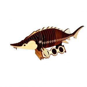 "Деревянная рыба ""Белуга"" – ручная работа"