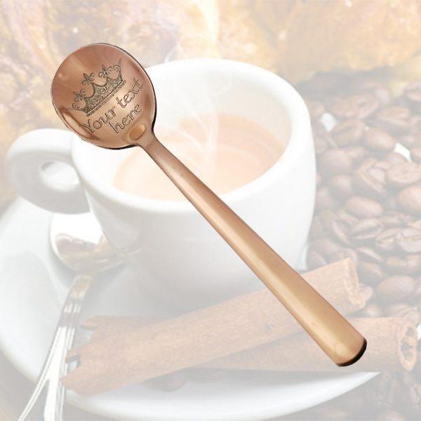 Эспрессо ложка с гравировкой 12cm