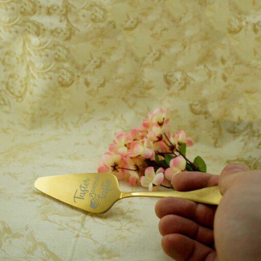 Лопатка для торта — Золотая