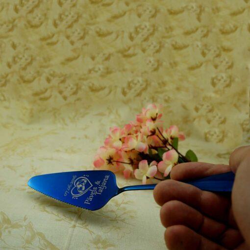 Лопатка для торта — Синяя