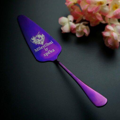 Лопатка для торта — Фиолетовая