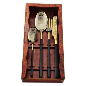 Подарочный комплект из 4-х предметов с гравировкой «Black»