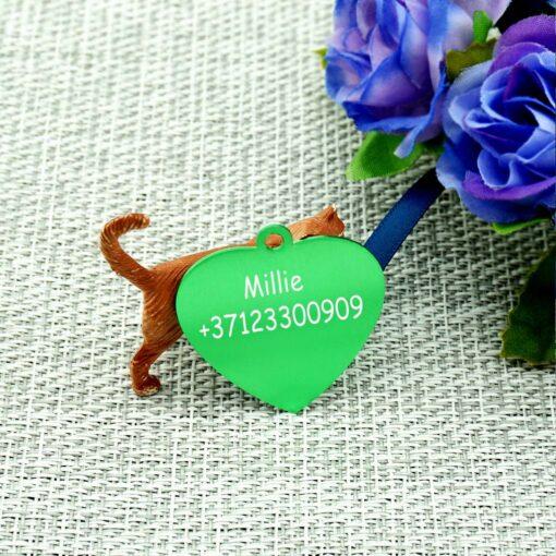 Dzīvnieku žetons ar gravējumu Green II