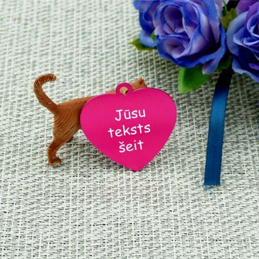 Dzīvnieku žetons ar gravējumu Pink
