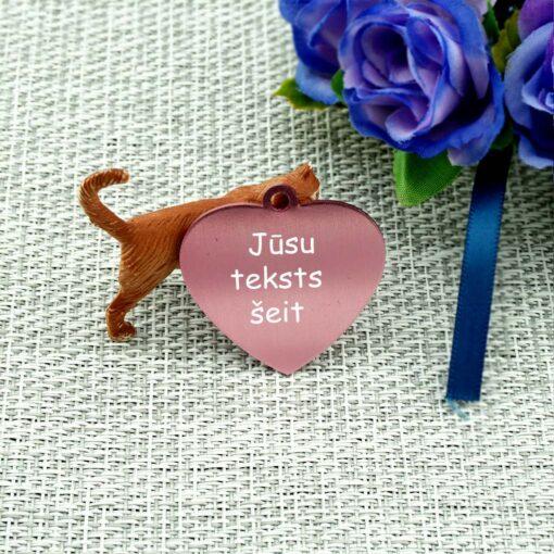 Dzīvnieku žetons ar gravējumu Rose red