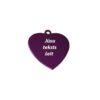 Жетоны с гравировкой для животных Purple