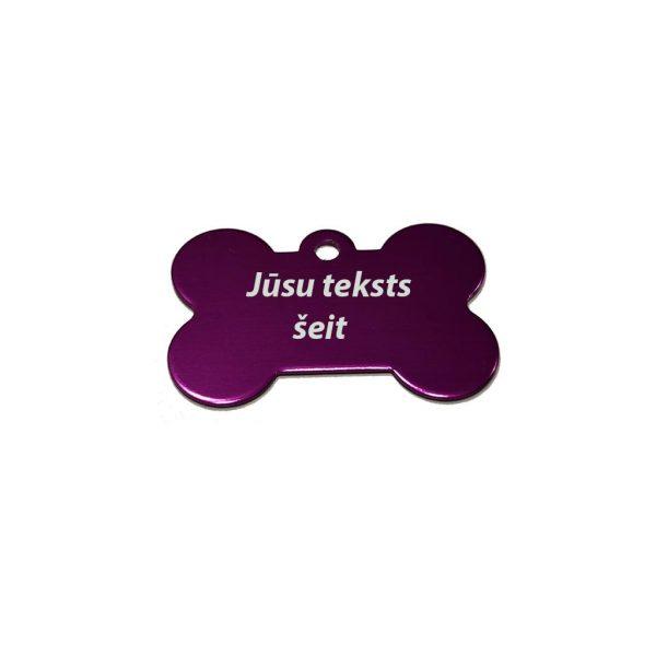 Dzīvnieku žetoni ar gravējumu Kaula Purple